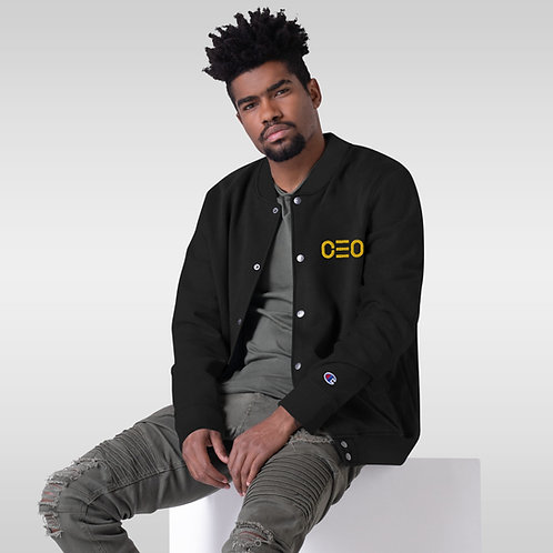 LUSU Designs Embroidered Bomber Jacket Collection CEO Gold Label