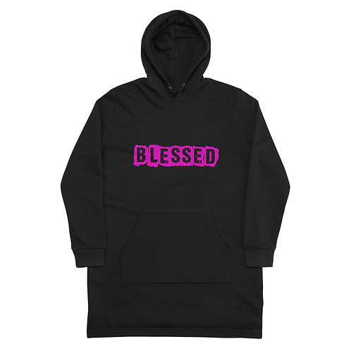 LUSU Designs Hoodie Dress Collection Blessed Flamingo Label