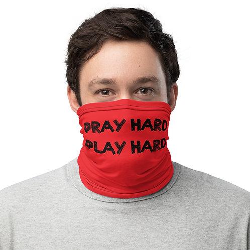 LUSU Designs Neck Gaiter Pray Hard Play Hard Label IV