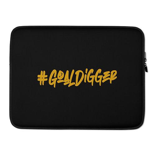 LUSU Designs Laptop Sleeve Collection Goaldigger Midas Label Black