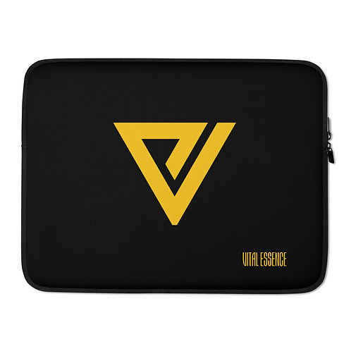 LUSU Designs Laptop Sleeve Collection Vital Essence Label Black