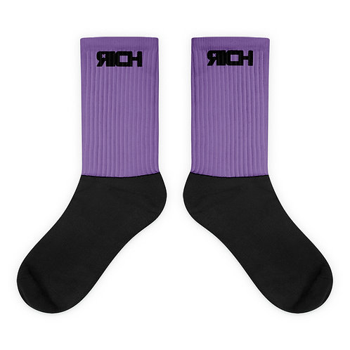 LUSU Designs Sock Collection RICH Noir Label Lt Purple