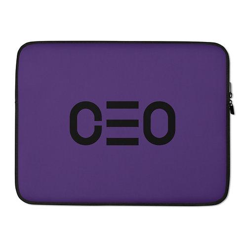 LUSU Designs Laptop Sleeve Collection CEO Noir Label Purple