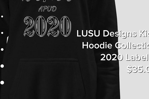 LUSU Designs Kids Hoodie Collection 2020 Label V