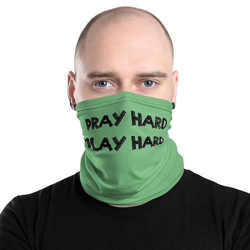 LUSU Designs Neck Gaiter Pray Hard Play Hard Label VIII
