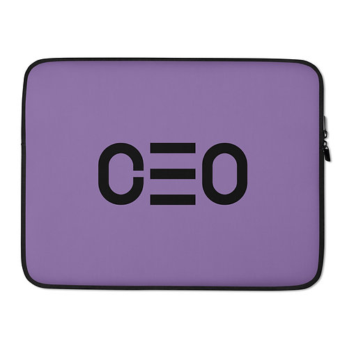 LUSU Designs Laptop Sleeve Collection CEO Noir Label Lt Purple