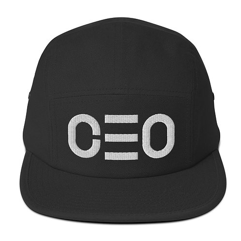 LUSU Designs Five Panel Cap CEO Blanco Label