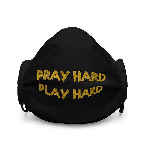 LUSU Designs Premium Face Mask Pray Hard Play Hard Midas Label I