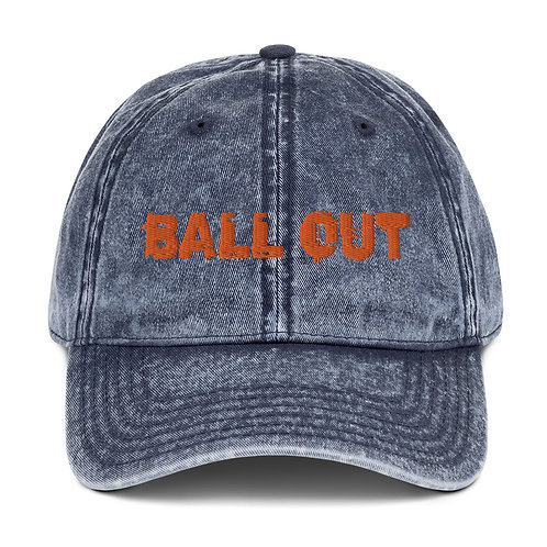 LUSU Designs Vintage Cotton Twill Cap Collection Ball Out Tangerine Label