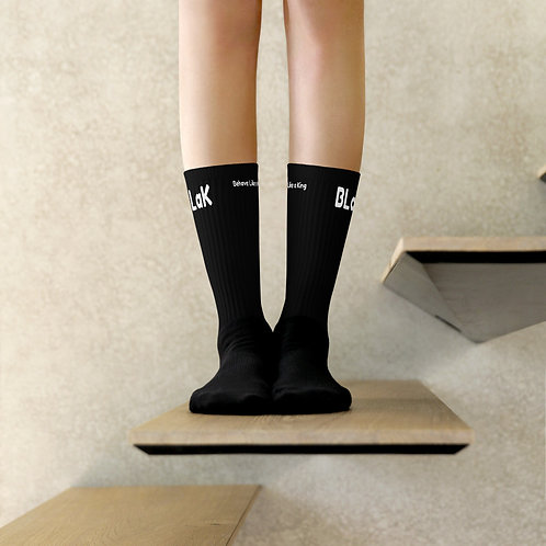LUSU Designs Sock Collection BLaK Man Blanco Label Black III