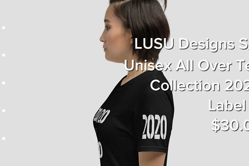 LUSU Designs S/S Unisex All Over Tee Collection 2020 Label III