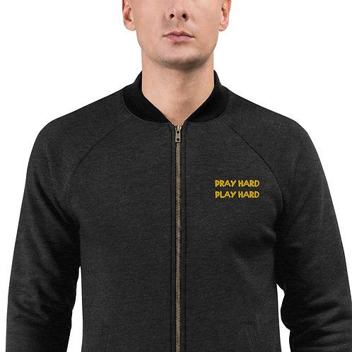 LUSU Designs Bomber Jacket Collection Pray Hard Play Hard Midas Label
