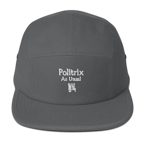 LUSU Designs 5 Panel Camper Collection Politrix As Usual Blanco Label