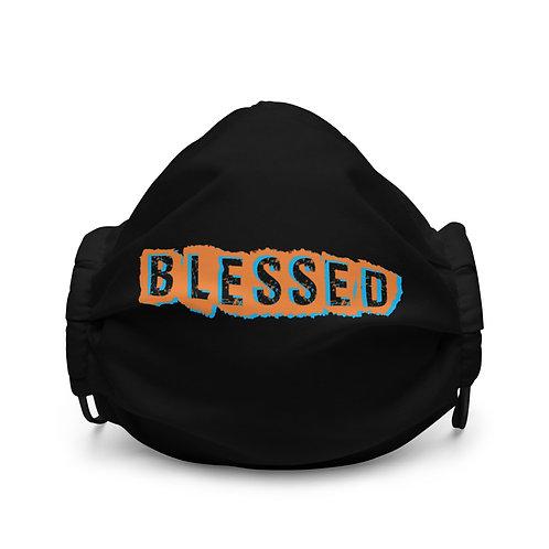 LUSU Designs Premium Face Mask Blessed Tangerine Sky Label