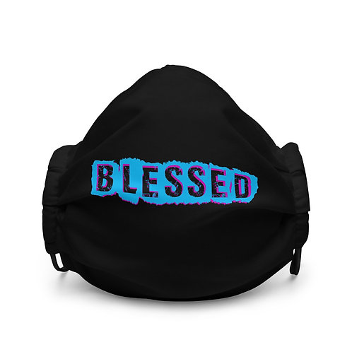 LUSU Designs Premium Face Mask Blessed Miami Nights Label I