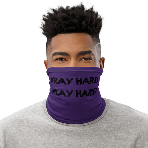 LUSU Designs Neck Gaiter Pray Hard Play Hard Label VII