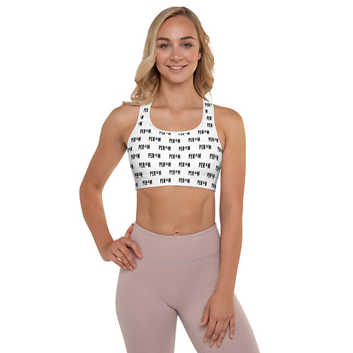 LUSU Designs Padded Sports Bra Collection PER4M Fire Label II
