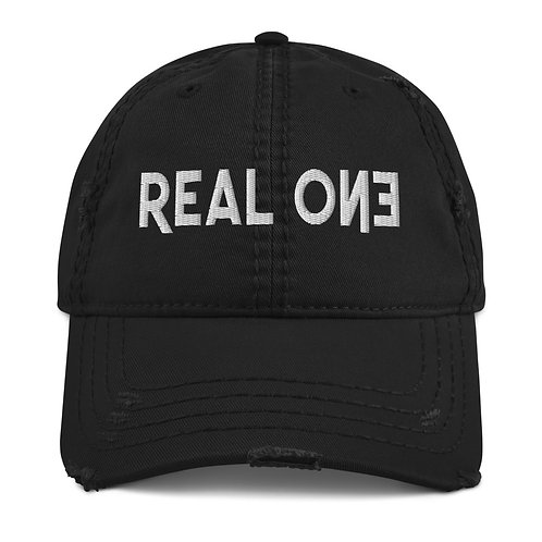 LUSU Designs Distressed Dad Hat Collection Real One Blanco Label