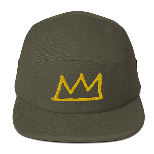LUSU Designs Five Panel Cap Crown Midas Label