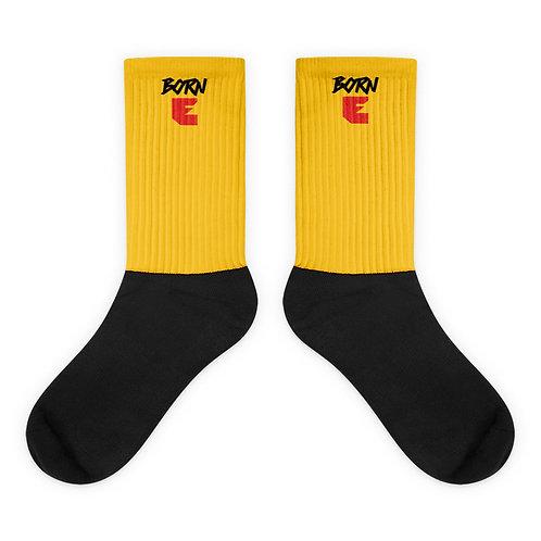 LUSU Designs Socks Collection Born Ready Noir Label Yellow