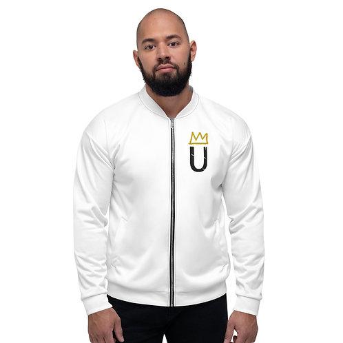LUSU Designs Unisex Bomber Jacket Black Logo Label IV