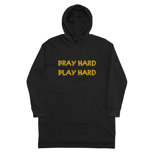 LUSU Designs Hoodie Dress Collection Pray Hard Play Hard Midas Label