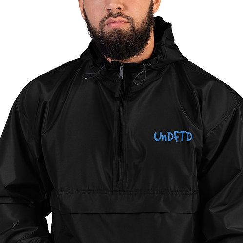 LUSU Designs Embroidered Packable Jacket Collection UnDFTD Azure Label