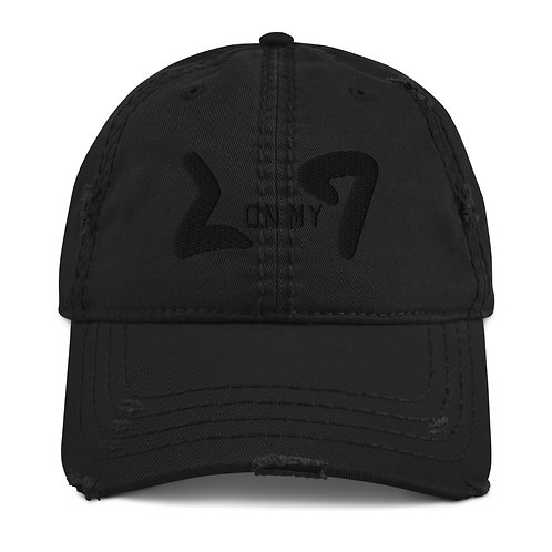LUSU Designs Distressed Dad Hat Collection On My Square Noir Label