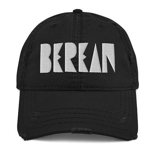 LUSU Designs Distressed Dad Hat Collection Berean Blanco Label