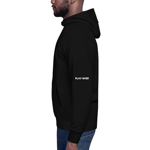 LUSU Designs Unisex Hoodie Collection Pray Hard Play Hard Blanco Label III