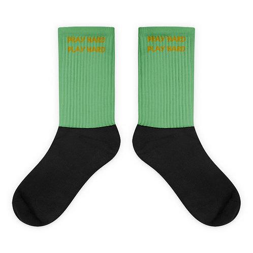 LUSU Designs Socks Collection Pray Hard Play Hard Midas Label V