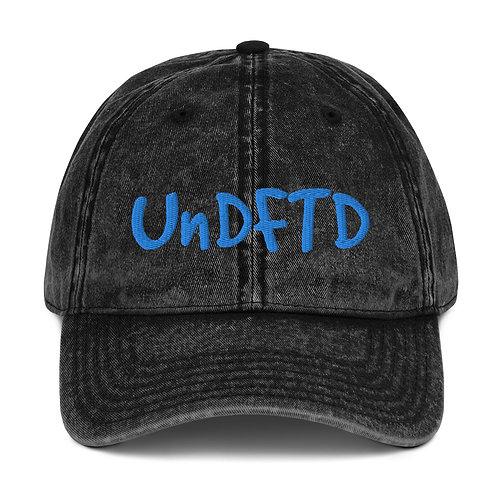 LUSU Designs Vintage Cotton Twill Cap Collection UnDFTD Azure Label