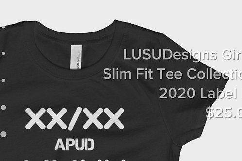 LUSUDesigns Girl's Slim Fit Tee Collection 2020 Label IV