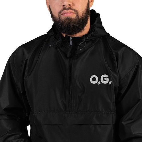 LUSU Designs Embroidered Packable Jacket Collection O.G Blanco Label