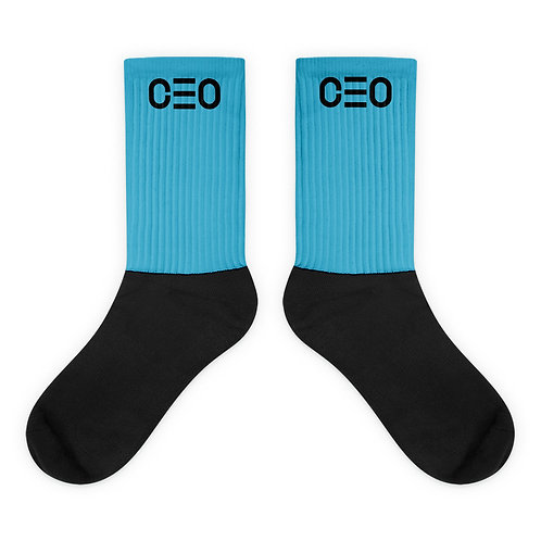 LUSU Designs Sock Collection CEO Noir Label Lt Blue