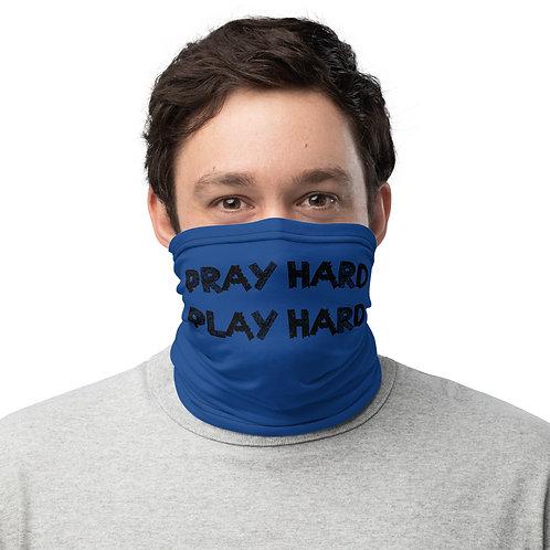 LUSU Designs Neck Gaiter Pray Hard Play Hard Label V