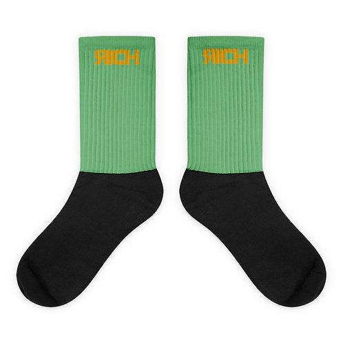 LUSU Designs Sock Collection RICH Midas Label Green