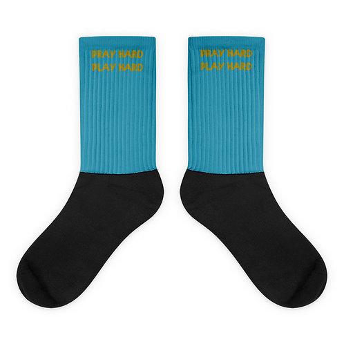 LUSU Designs Socks Collection Pray Hard Play Hard Midas Label IV