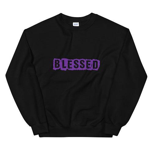 LUSU Designs Unisex Sweatshirt Collection Blessed Purple Label