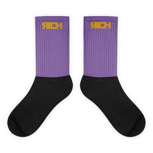 LUSU Designs Sock Collection RICH Midas Label Lt Purple