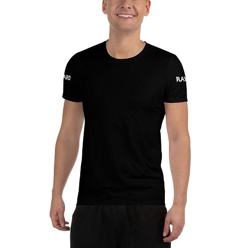 LUSU Designs Men's Athletic T-shirt Pray Hard Play Hard Blanco Label III