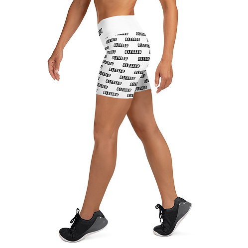 LUSUDesigns Yoga Shorts Collection Blessed Noir Label