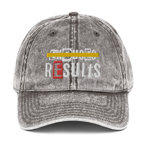 LUSU Designs Vintage Cotton Twill Cap Results Label II