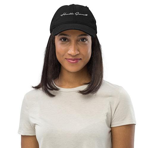 LUSU Designs Distressed Dad Hat Collection Humble Servant Blanco Label