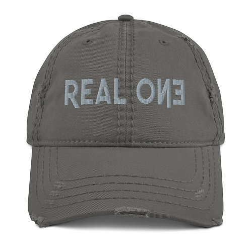 LUSU Designs Distressed Dad Hat Collection Real One Platinum Label
