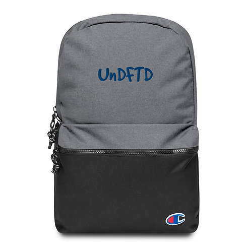 LUSU Designs Embroidered Champion Backpack UnDFTD Royal Label