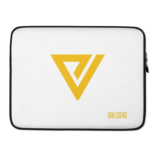 LUSU Designs Laptop Sleeve Collection Vital Essence Label White