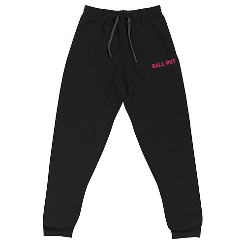 LUSU Designs Unisex Joggers Collection Ball Out Flamingo Label I