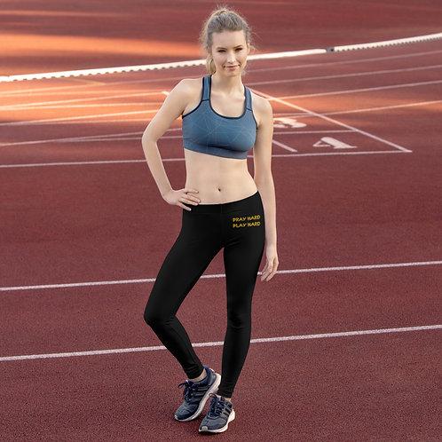 LUSU Designs Women's Leggings Pray Hard Play Hard Midas Label I