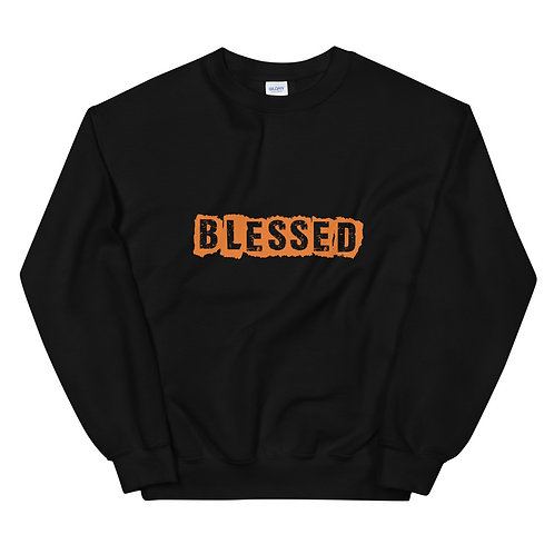 LUSU Designs Unisex Sweatshirt Collection Blessed Tangerine Label